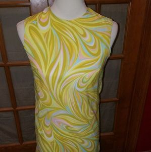 Vintage Psychedelic 60s Shift dress Size Small